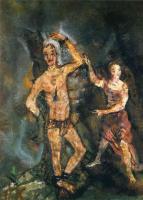 Oskar Kokoschka. A man and a woman