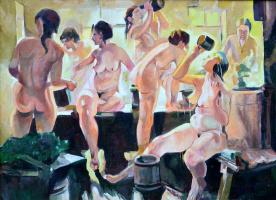Victor Nikolaevich Ale. In the bath. 2014