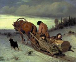 Василий Григорьевич Перов. Проводы покойника