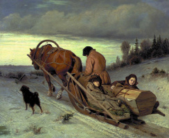 Vasily Grigorievich Perov. Seeing the dead