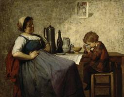 Адольф фон Беккер. Материнское счастье