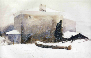 Andrew Wyeth. The first snow