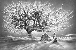 Гурам Николаевич Доленджашвили. Имеретинская зима. (Кутаиси. Храм Баграта)