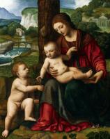 Бернардино Луини. Мадонна с младенцем и юным Иоанном Крестителем