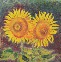 Andrey Mikhailovich Paskevich. Sunflowers