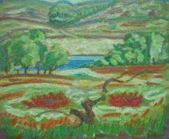 Вячеслав Коренев. Landscape with trees