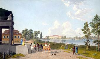 Матиас Габриэль Лори  Младший. Вид на Каменноостровский дворец
