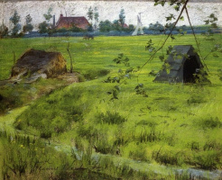 William Merritt Chase. The green meadows of Holland