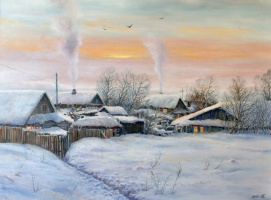Сергей Владимирович Дорофеев. Winter evening in the outback