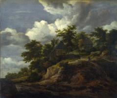 Якоб Исаакс ван Рейсдал. Дома на склоне