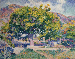 Henri Edmond Cross. Around my house (Near the house)