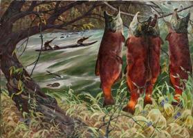 В. Френц. Лов красной рыбы на Камчатке