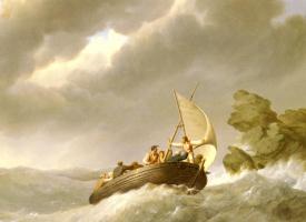 Йоханнес Херманус Куккук. Буря в море