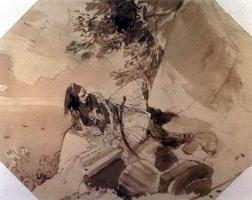 Карл Павлович Брюллов. Грек, лежащий на скале