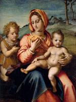 Андреа дель Сарто. Мадонна с младенцем и юным Иоанном