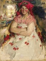 Абрам Ефимович Архипов. Крестьянская пригородная девица (Рязанская пригородная девица). 1928