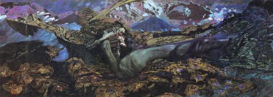 Mikhail Aleksandrovich Vrubel. The Demon Downcast