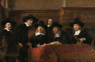 Рембрандт Харменс ван Рейн. Синдики, или Портрет избранных членов цеха суконщиков