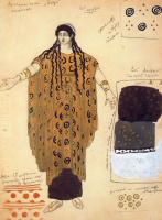 Lev Samoilovich Bakst (Leon Bakst). Costume of a maid. Phaedra.