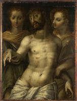 Итальянский. Мертвого Христоса поддерживают ангелы