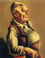 Томас Харт Бентон. Профиль пожилого мужчины