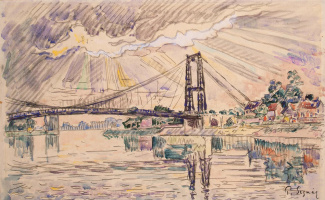 Paul Signac. Suspension bridge in the City