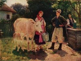 Николай Корнильевич Пимоненко. Соперницы (У колодца)