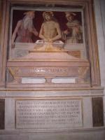 Джованни Санти. Христос в саркофаге между Святым Иеронимом и Святым Бонавентурой
