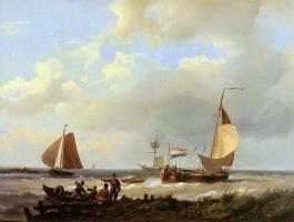 Герман Куккук. Корабли в гавани лимана