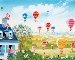 Хиро Ямагата. Полет на воздушных шарах