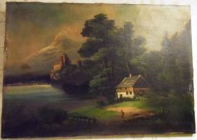 Неизвестный  художник. Дом в лесу