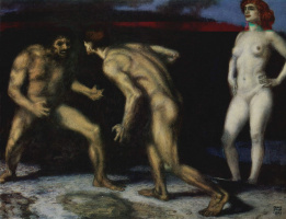 Franz von Pieces. Battle for a woman