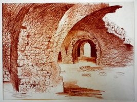 Boris Mikhailovich Koslunikov. Ruins of a fortress