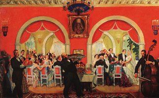 Boris Mikhailovich Kustodiev. Wedding feast