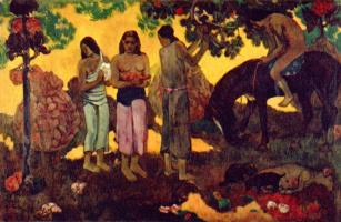 Paul Gauguin. Collect the fruits (Oh, Tahiti, wonderful land!)