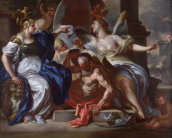 Франческо Солимена. Аллегория Людовика XIV