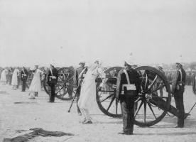 The suppression of the Indian uprising by the British