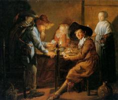 Ян Минсе Молинар. Игра в карты при свечах