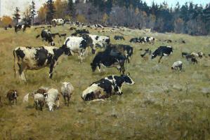 Василий Васильевич Куракса. On pasture