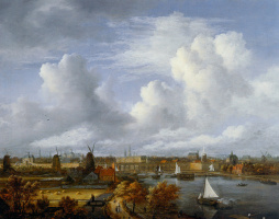 Саломон ван Рёйсдал. Вид на Амстердам
