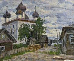Boris Petrovich Zakharov. Kargopol. Etude.