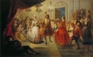 Charles-Antoine Coypel. Don Quixote at the ball at don Antonio Moreno