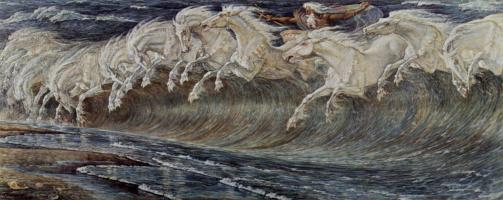 Walter Crane. The Horses Of Neptune
