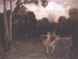Шимон Холлоши. Танцующие девушки на краю леса