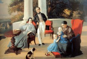 Евграф Семенович Сорокин. Семейный портрет