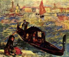 Пьер Огюст Ренуар. Гондола на Большом канале в Венеции