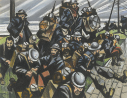 Christopher Nevinson. The troops on vacation