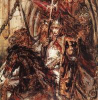 Ян Матейко. Отъезд Генриха Благочестивого из Легницы
