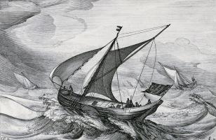 Ян Порселлис. Лист 2 серии иллюстраций кораблей голландского флота