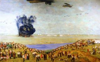 Константин Федорович Юон. На Тушинском аэродроме. 1936-1938
